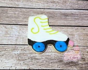 """Roller Skate Decorated Sugar Cookie 4"""" -1 dozen"""