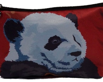 Giant Panda Cosmetic Bag - Salvador Kitti - From my Original Oil Painting, Pensive Panda
