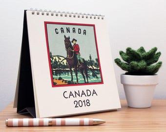 2018 Retro Canada Desk Calendar
