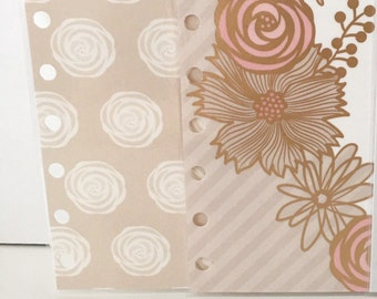 2x laminated dashboards for pocket size Filofax, small kikki.k, kate spade, louis vuitton PM planner, Websters Pages