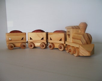 Wood Ore Train with Steam Locomotive