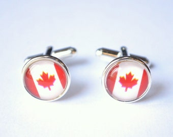 Canada Flag Mens Cuff Links Groomsmen Gifts Wedding Gifts