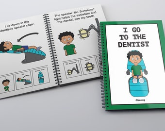 I Go To The Dentist Childrens Book (Cleaning)- Dental-Boy/PECS social story