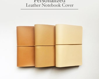 FREE SHIPPING Handmade Leather Traveler's Notebook Cover /Midori style cover/Brown/Honey Brown/Peach/Leather Journal / fauxdori / B6