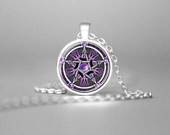 Pentagram pendant etsy more colors aloadofball Gallery
