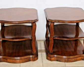 Very Hard to Find Vintage Drexel Taurine III Matching Set Three Tier side Tables Nationwide shipping available please call for best rates