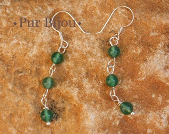 Green Onyx earrings and 925