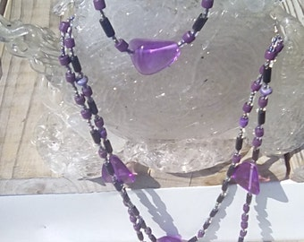 Purple Mountain Double Strand w/Anklet