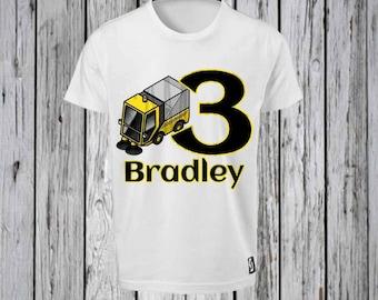 Street Cleaner  Birthday Iron T shirt Design FILE ONLY! Big Machine Tee shirt- Street cleaner birthday shirt-Trash Truck Tee shirt- Birthday