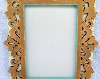 Wooden Laser Cut Hand-painted picture frame