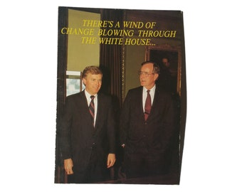 80s 90s George Bush Sr Dan Quayle Funny Political Greeting Card Just Because Emotional Rescue Republican Democrat Liberal Conservative USA