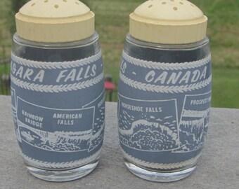 Canada Niagara Falls Salt and Pepper Shakers VIntage 1970  Era