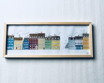 Nyhavn Hand Coloured Print