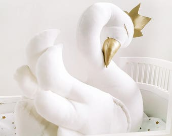 Soft toys, Velvet Swan, baby stuff, stuffed animals, baby toy, girls toys, soft toys for babies, animal toys, stuffed swan, soft animals