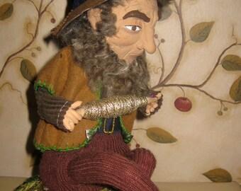 OOAK Mixed Media Folk Art Doll, Rumpelstiltskin