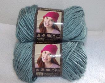 Lion Brand Landscapes Sage Yarn, Sage Lion Brand Yarn, Green Bulky Yarn, Medium Sage Yarn, Lion Brand Yarn