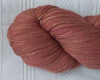 Copper merino/silk laceweight yarn