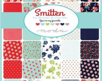PRE-RELEASE Smitten by Bonnie & Camille for Moda 2 Charm Square packs
