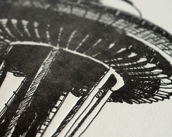 Space Needle II - Limited Edition Seattle Letterpress Print