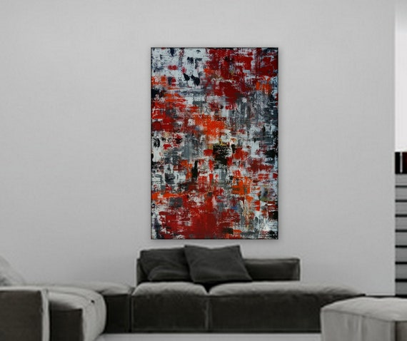 XL Modern Abstract Painting by Marcy Chapman Custom order sample for a 10ft x 8ft original painting on canvas abstract painting modern art