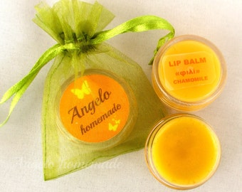 Lip Moisturizer, Lip Balm Chamomile Honey, Chapped Lips, Lip Butter Organic, Natural Lip Balm, Chapstic, Natural Lip care, Angelo homemade.