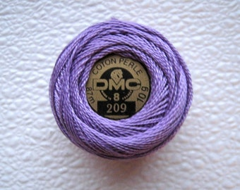 DMC Perle Cotton Thread 209 Size 8 Dark Lavender