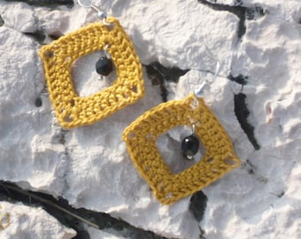 Crochet Frame Earrings