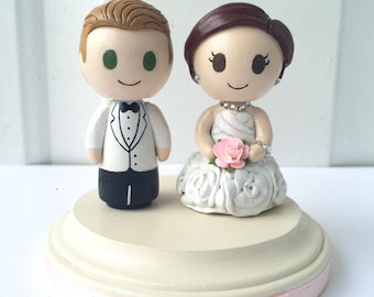 Customizable Figurine Wedding Cake Topper - Made to order!