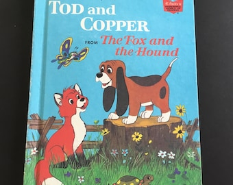 Vintage Tod and Copper, Walt Disney's world of reading, copyright 1981 HB