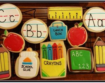 School Day's Cut Out Sugar Cookies 1 Dozen