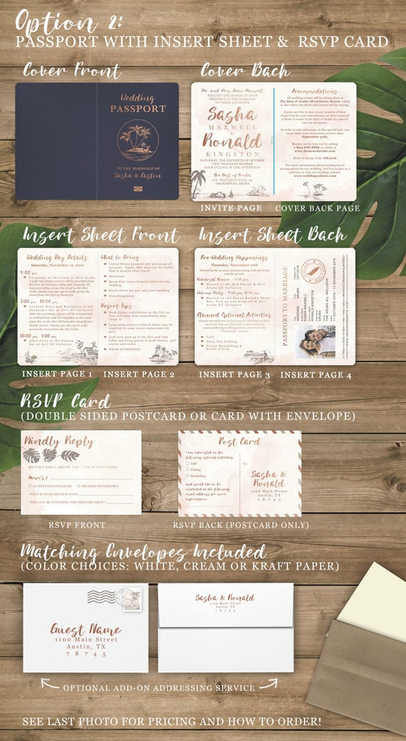 Destination Wedding Invitation Passport Invitation