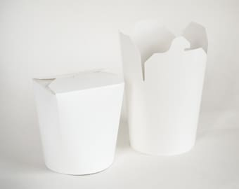 To Go Boxes, 25 Take Out Boxes, Favor Boxes, Take Out Containers, Party Favor Boxes, White Boxes, Birthday, Wedding, Graduation, 16oz