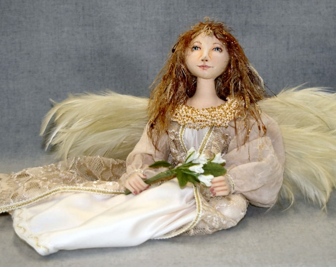 JS412E - Seated Angel PDF Cloth Doll Sewing Pattern by Judy Skeel