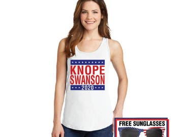 Knope Swanson 2020 campaign tank top tee ladies sleeveless Parks and Recreation Ludgate Pawnee rat li'l sebastian Leslie Mouse Dwyer Rec