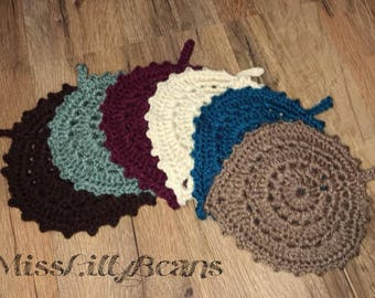Leaf Coasters, Hot Pads, Dishcloth, Thanksgiving Holiday, Fall Accessorie