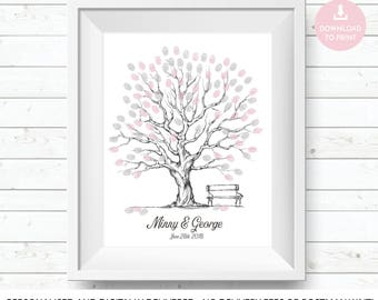 wedding tree, tree guest book, wedding guest tree, wedding guest book, wedding guestbook, fingerprint tree, guest book tree wedding print