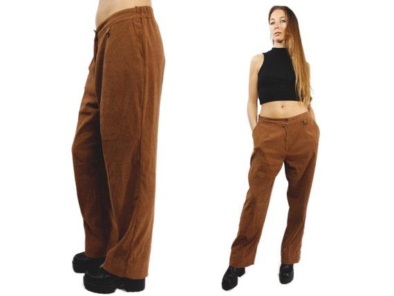 LOW WAIST Pants / Boho Pants / 90s Pants / Vintage Pants / Brown Pants / Flare Pants / Low Waist Vintage Pants / YUMMY Vintage