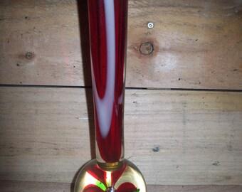 Retro Red Bud Vase Handblown