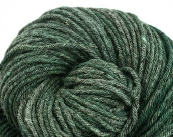 Hand Dyed Aran weight Mini Empire Heathers Rambouillet Wool 213 yds 4oz Cypress