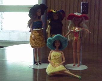 Fashion Doll Floppy Brim Hat for Barbie type and Lammily dolls