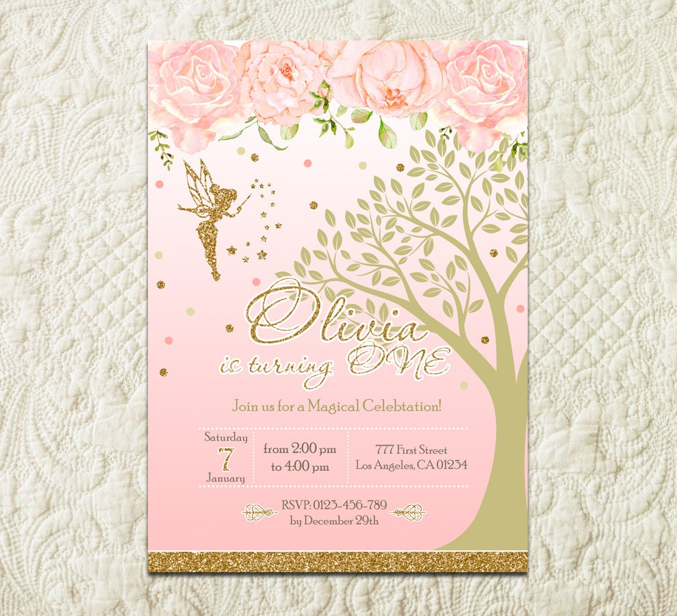 Fairy Birthday Invitation Fairy Garden Party Invitation