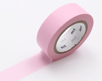 Baby Pink Washi Tape • MT Masking Tape Pastel Washi Tape • Washi Tape UK • Japanese stationery • Pastel Pink