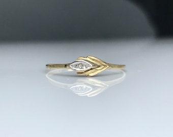Vintage  ~ Gold Stacking Ring ~ Size UK Q / US 8