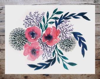 Floral Sea Print