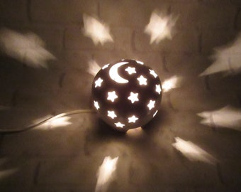 Nursery Lamp, Stars Nursery Lamp, Mood Lighting, Night Light Kids Nursery, Starry Nights night light, Nursery Decor, Baby Shower Gift