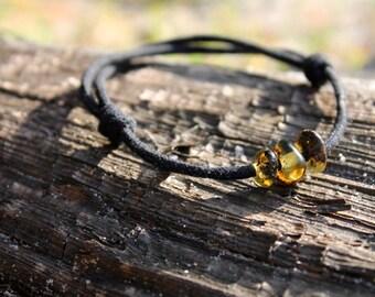 Pebble Bracelet Men Jewelry Baltic Amber Friendship Bracelet Gift for him Dude Boy Dad Grad Eco Friendly