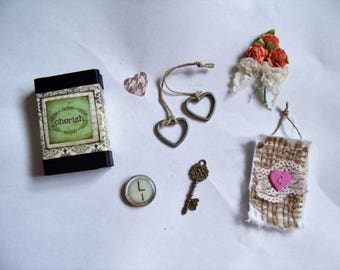 Cherish/Love Matchbox with 5 Goodies Inside/Decoration/Stocking Stuffer/Gift/Valentines
