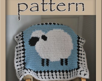 PATTERN Crochet Sheep Baby Afghan - PDF - Instant Download