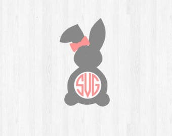 Bow Bunny Monogram