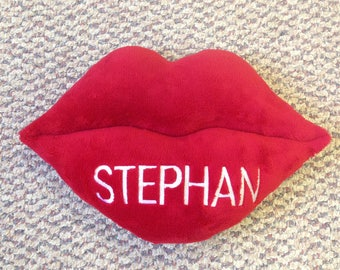 """Personalized 14"""" Lips Pillow"""